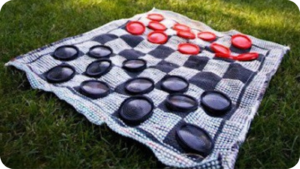 outdoor checkers camping games