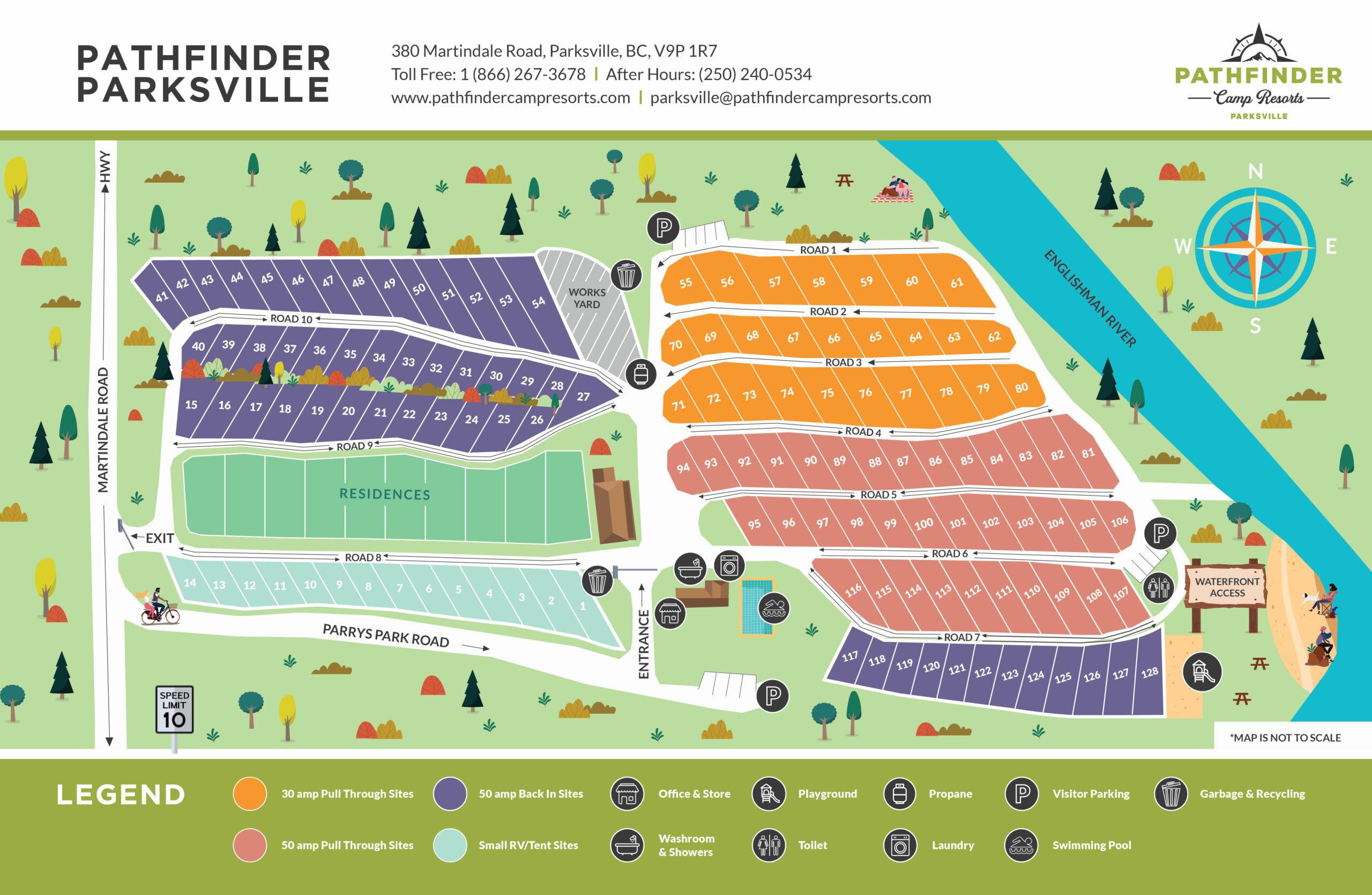 Pathfinder Parksville Site Map 2021