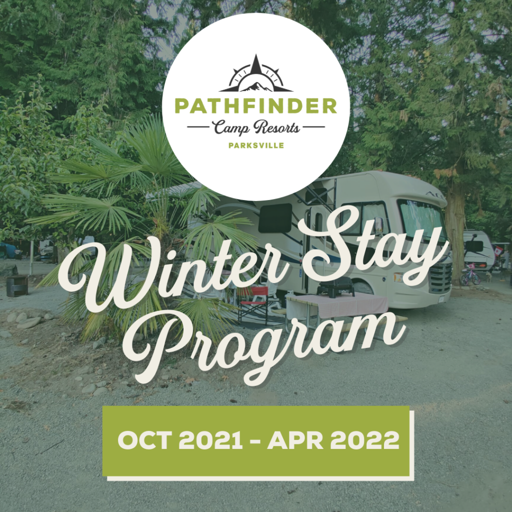 pathfinder parksville bc rv park camp resort camprground winter stay program